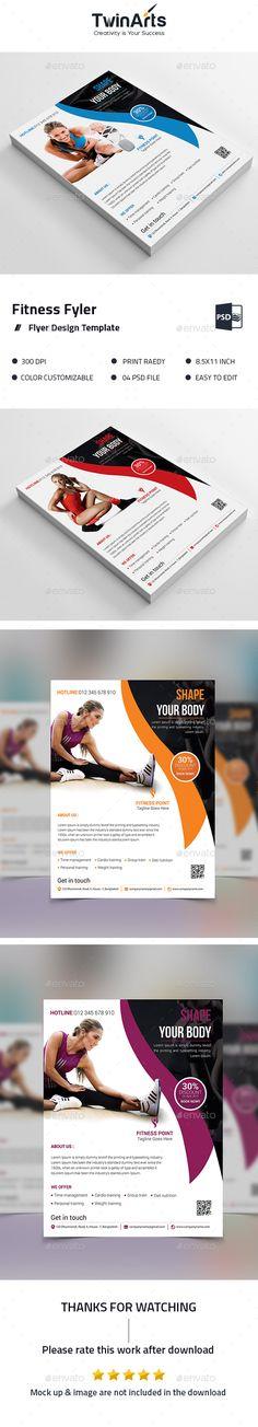 Fitness Flyer design. - Brochures Print Templates