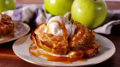 Bloomin' Apples  - Delish.com caramel, vanilla ice cream, cinnamon apples
