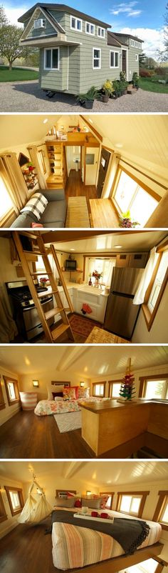 awesome A beautiful 200 sq ft tiny house on wheels, built for a family of 4!... by http://www.danaz-home-decorations.xyz/tiny-homes/a-beautiful-200-sq-ft-tiny-house-on-wheels-built-for-a-family-of-4/