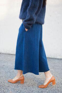 CristaSeya Kendo Pant Skirt in Indigo