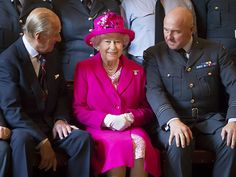 Star Tracks: Monday, July 6, 2015 | ROYAL FLUSH | Looking pretty in pink, Queen Elizabeth finds herself flanked by husband Prince Philip and Commanding Officer Jerry Riley during a Saturday visit to the Royal Auxiliary Air Force 603 Squadron's headquarters in Edinburgh, Scotland. The royals will soon return to England for an extra-special occasion: Princess Charlotte's Sunday christening.