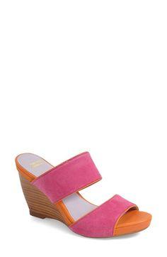 Johnston & Murphy 'Nisha' Wedge Slide Sandal (Women) available at #Nordstrom