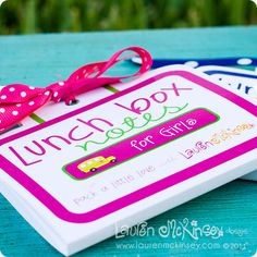 {think cute designs} lunch box notes Back To School Party, School Lunch Box, School Parties, School Fun, School Lunches, School Holidays, School Days, Cute Lunch Boxes, Activities For Kids