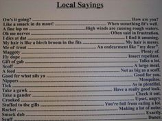"""We use lots of these even in Manitoba. Newfoundland Local Sayings // """"Stuffed to the gills"""" is a Newfoundland saying? I just thought it was a colloquialism! Newfoundland Canada, Newfoundland And Labrador, Best Quotes, Funny Quotes, Canada Eh, Ocean Sounds, True North, Prince Edward Island, New Brunswick"""