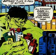 transmissionsgeekroom:  Incredible Hulk #154, August 1972 Herb Trimpe and Archie Goodwin   Hulk vs. shampoo