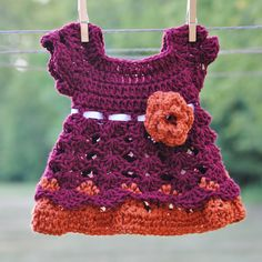 Virginia Tech Hokies Baby Girl Newborn Outfit Dress Headband Shower gift Photo prop Take home First Outfit Infant. $40.00, via Etsy.