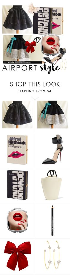 """airport traveling✈✈"" by faizasufyan ❤ liked on Polyvore featuring Olympia Le-Tan, Christian Louboutin, Solid & Striped, NYX, PERLOTA, travel and airport"