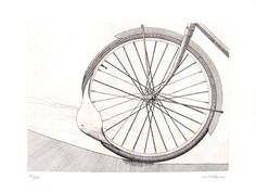 Malaval Robert : Original signed etching : The wheel