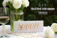Crafted: D.I.Y. Block script table numbers