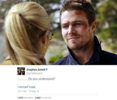 #Arrow #Olicity  'Do you understand?'  <3 I LOVE OliCity :*