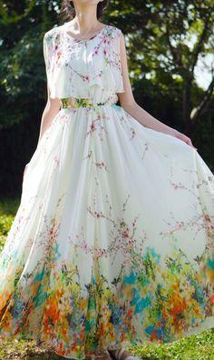 Floral Bohemian beach dress5-222