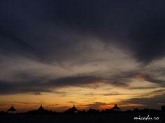Sunset over the Danube Delta in Sfantu Gheorghe