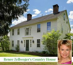 Renee Zellweger's Federal Colonial-Style Farmhouse For Sale in Connecticut | hookedonhouses.net