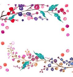 watercolor flowers background vector frame by elmiko on vectorstock