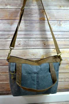 Waxed Canvas Purse / Eco Friendly Womens bag / vegan by DarbyMack