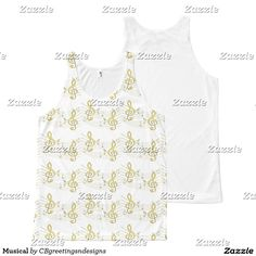 Musical All-Over Print Tank Top