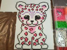 Luipaard// Leopard - hama perler beads