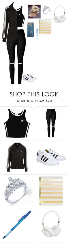 """going to school"" by directioner-873 on Polyvore featuring adidas, adidas Originals, Sugar Paper, Paper Mate and Frends"