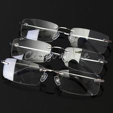 Herren Brille Memoryflex Titan Brillenfassung Brillengestell Randlos leicht 3Far