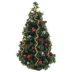 Miniature Red Sparkle Christmas Tree