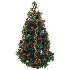Miniature Red Sparkle Christmas Tree