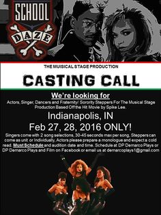 Casting Notice: School Daze