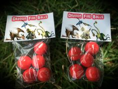 How to Train Your Dragon 2 Birthday Party Dragon Fireball Gum Packs Treats Favors