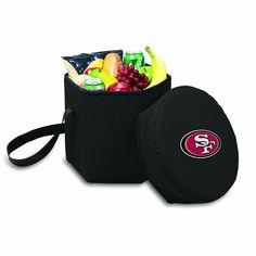 NFL San Francisco 49ers Bongo Insulated Collapsible Cooler, Black * Awesome outdoor product. Click the image : Camping equipment