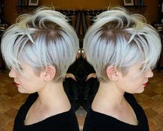 Wanna see the chosen images of Trending Pixie Haircut Ideas? We have gathered latest pixie style ideas for women who is not sure to go for a pixie! Short Hair Cuts, Short Hair Styles, Natural Hair Styles, Pixie Cuts, Short Pixie, Pixie Bob, New Hair, Your Hair, Silky Hair