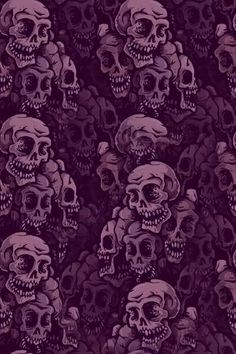 Purple Skull Pattern