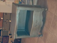Silver chalk paint. Made it myself. Luv it!