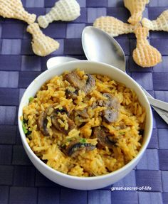 Great-secret-of-life: Tomato Mushroom Rice - Simple one pot meal - Lunch box recipes