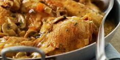 Poulet Vallée d'Auge au cidre : découvrez les recettes de cuisine de Femme Actuelle Le MAG Chicken Wings, Chicken Recipes, Food And Drink, Turkey, Meat, Cooking Ideas, Celine, Table, Apple Chicken