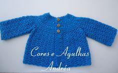 Cores e Agulhas: Casaquinho de Bebe em Crochê Gustavo! Free Pattern