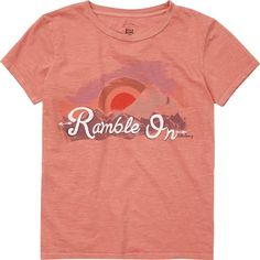 Ramble On Tee (1.040 RUB) ❤ liked on Polyvore featuring tops, t-shirts, ash rose, t-shirt/prints, short sleeve t shirts, boyfriend t shirt, pattern t shirt, crew neck tee and crewneck tee