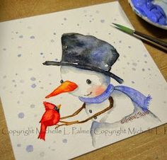 Michelle Palmer: Little watercolors~ Michelle is such a beautiful watercolor painter