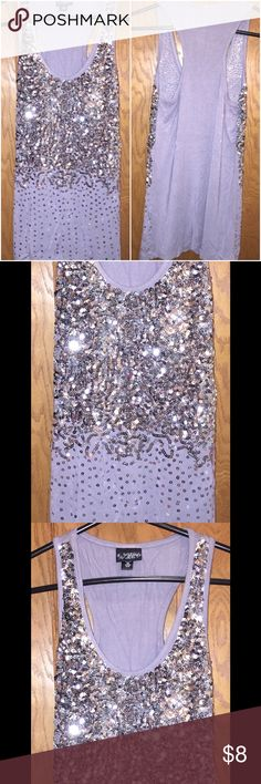 Sequin tank top Gray sequin tank top from Buckle size XS     💥host pick💥 🎉Sale Daytrip Tops Tank Tops