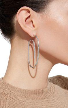Large Pipe Hoop Earrings in Silver by Jennifer Fisher | Moda Operandi