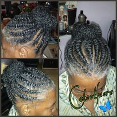 Adult flat twist bun...!