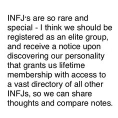 INFJ - We really need this. Please, someone make it happen!!
