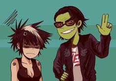 Cyborg Noodle y Ace Gorillaz Cyborg Noodle, Gorillaz, Anime, Fictional Characters, Music, Art, Musica, Art Background, Musik