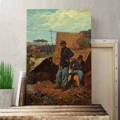 'Home Sweet Home' by Winslow Homer Painting Print on Canvas Big Box Art Size: H x W Frames On Wall, Framed Wall Art, Winslow Homer Paintings, Canvas Art, Canvas Prints, Leonid Afremov Paintings, Superior Quality, Box, Painting Prints
