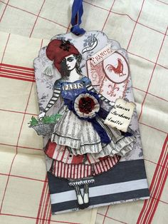 ArtTag,Les Femmes de le Revolution, Paper Doll, France,Paris, Fabric, Paper,Francophile, Love, Happiness,Friendship,FrenchColors,FrenchIcons