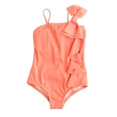 girls bow-shoulder swimsuit. crewcuts $39.60