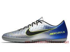 on sale e3bc1 6bb98 Nike Mercurialx Victory Vi Neymar Ic Chaussure de Football Pas Cher Pour  Homme Bleu Noir Prix