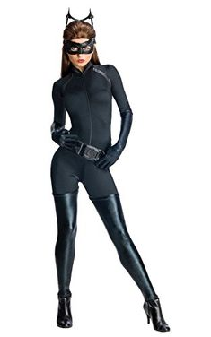Here are some super sexy women's super hero costumes for  Halloween 2017.  Whether you want to be  cat woman, bat woman, spider girl or even wonder woman.  You will find the perfect trendy #Halloween  costume for your party, event or trick or treating.      Secret Wishes Dark Knight Rises Adult Catwoman Costume, Black, X-Small