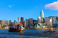 Ride the Star Ferry and see spectacular views of Victoria Harbour. #travel #outdoors #HongKong