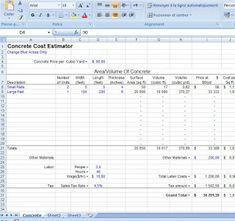free building estimate format in excel template estimate