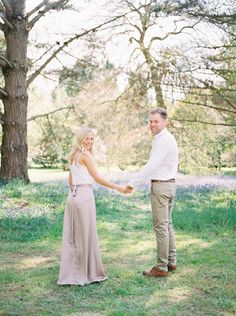 Sheffield Park Gardens National Trust Spring Engagement Shoot- Amy O'Boyle Photography- Destination & UK Fine Art Film Wedding Photographer #fuji400h champagne neutral tones- bluebell woods