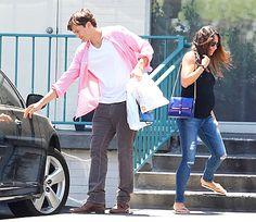 Ashton Kutcher, Pregnant Mila Kunis Enjoy Lunch Date: Picture - Us Weekly